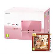 Nintendo 3DS (pink) + Nintendogs & Cats Golden Retriever and New Friends