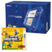 Nintendo 2DS (Transparentni, blue) + New Super Mario Bros. 2
