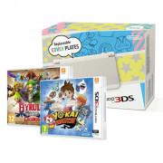 New Nintendo 3DS (White) + Yo-Kai Watch + Hyrule Warriors Legends