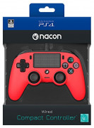 Playstation 4 (PS4) Nacon Wired Compact kontroler (Crveni)