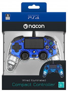 PlayStation 4 (PS4) Nacon Wired Compact žičani kontroler (Illuminated) (Blue) PS4