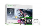 Xbox One S 1TB + Star Wars Jedi Fallen Order + FIFA 21 + Gears of War 4 + dodatni kontroler (bijeli)