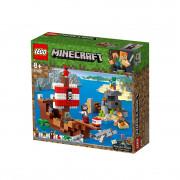 LEGO Minecraft  Pustolovina na gusarskom brodu (21152)