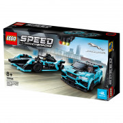 LEGO Speed Champions Formula E Panasonic Jaguar Racing GEN2 car & Jaguar I-PACE eTROPHY (76898)