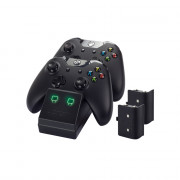 Venom VS2851 Xbox One crni punjač + 2 baterije