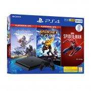 PlayStation 4 (PS4) Slim 500GB + Marvel's Spiderman + Horizon Zero Dawn + Ratchet and Clank (HITS Bundle) PS4