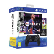 Playstation 4 (PS4) Dualshock 4 kontroler (Crni) + FIFA 21 PS4